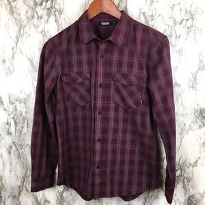 VANS   Button Up Shirt Plaid Skater Wear Men's L